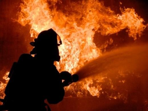 Подпалени гуми предизвикаха голям пожар край Варна