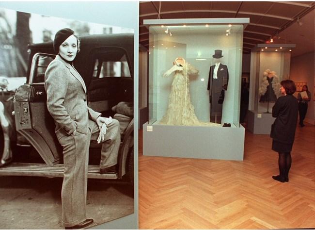 Изложба на дрехи и  вещи на Марлене в Бон