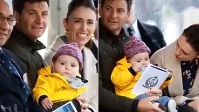 Дъщерята на новозеландската премиерка Джасинда Ардърн - Нийв, стана на 1 г. (Видео)