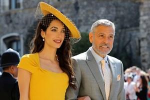 Джордж Клуни и съпругата му Амал Аламудин