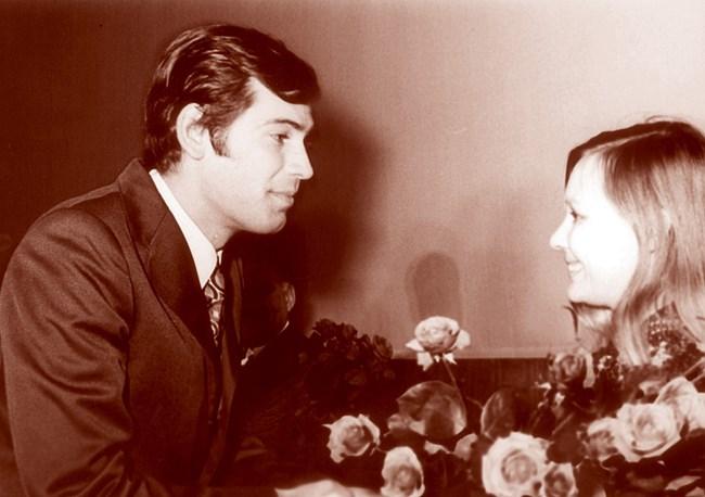 Стефан Данаилов със съветската актриса Людмила Савелиева