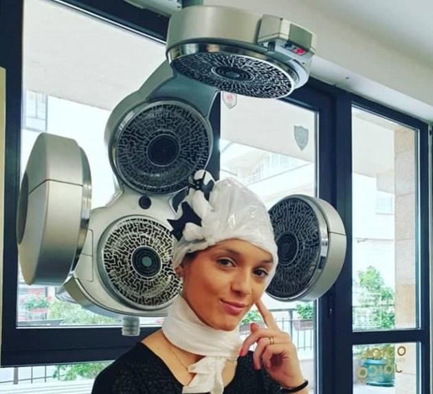 Луиза сгъстява косата с процедури