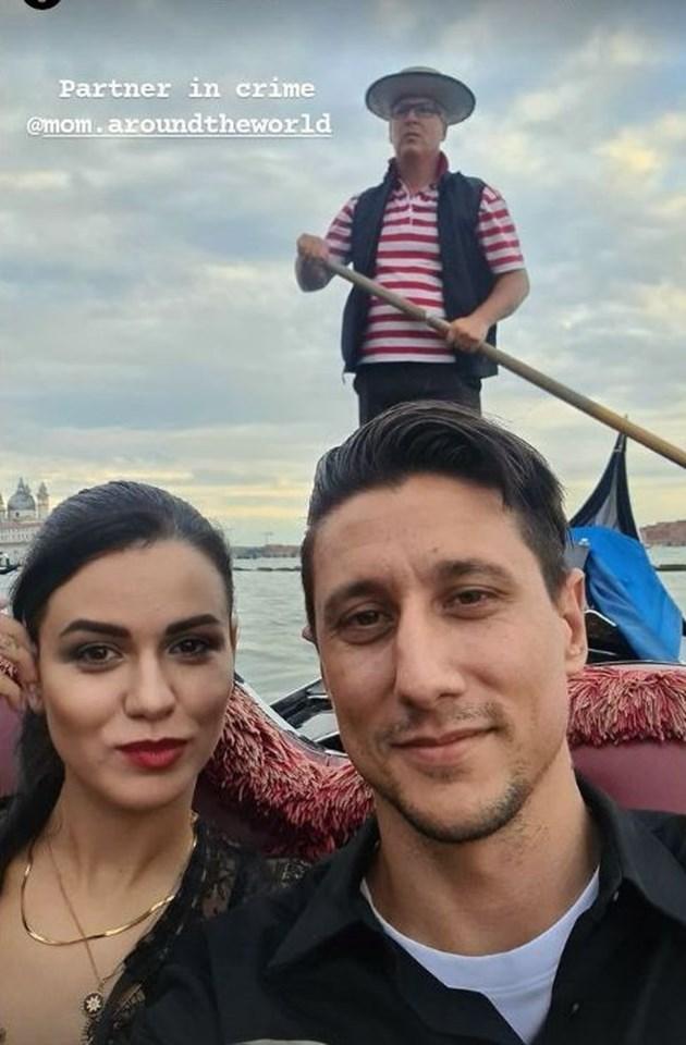 Александров изненада половинката с разходка с гондола