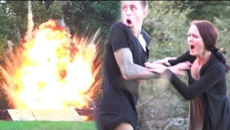 Американец взриви на шега тригодишния си си син, за да изплаши майка му (видео)