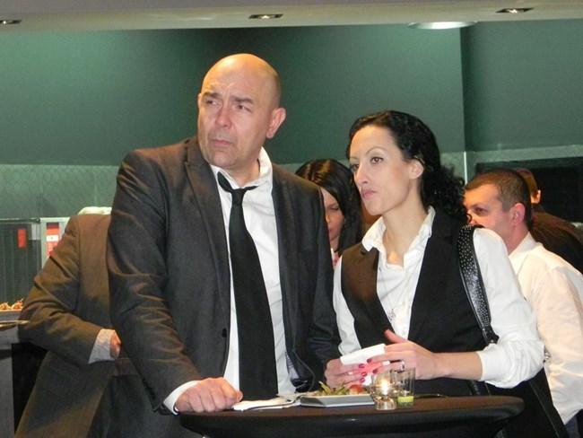 Калин Сърменов заедно с майката на третата си дъщеря - Боряна.  СНИМКА: АРХИВ