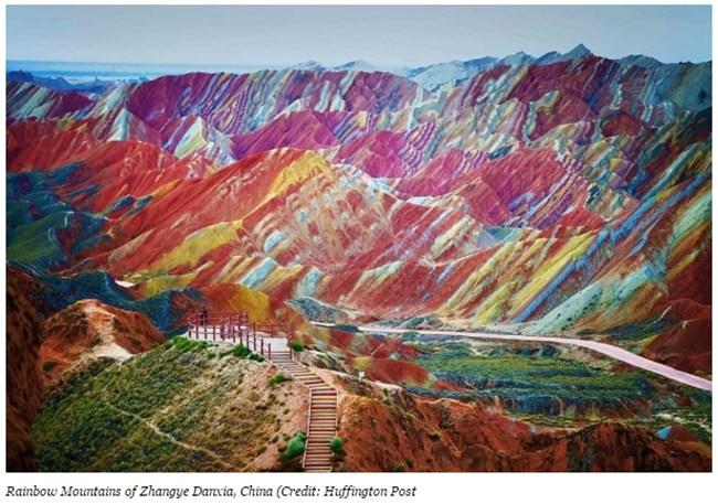 """Планините """"Дъга"""", Китай Снимка: forbes.com"""
