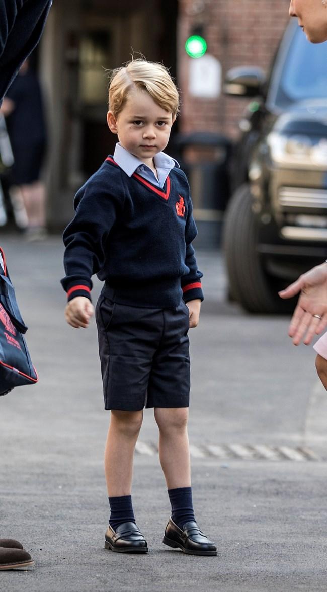 Принц Джордж е винаги с къси панталонки