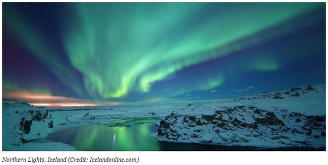 Северното сияние над Исландия Снимка: forbes.com