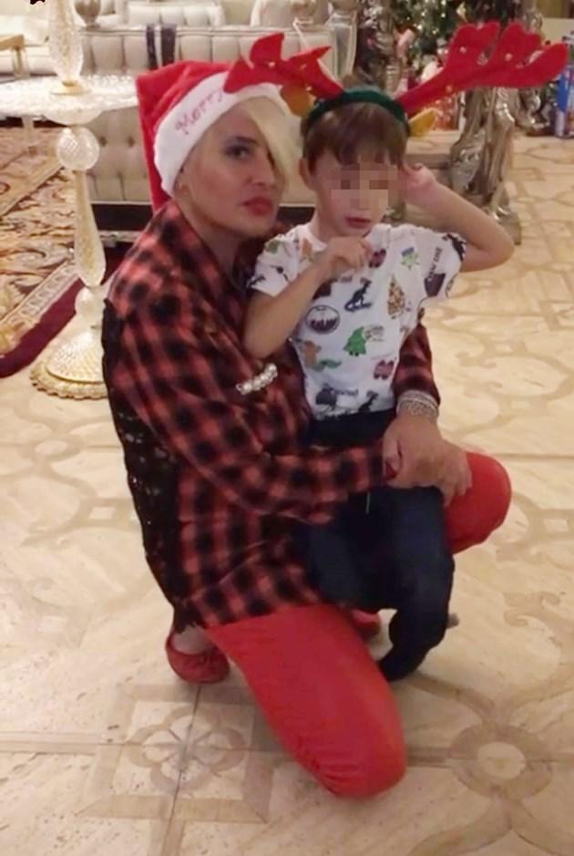 Арабаджиева с внуците по празниците