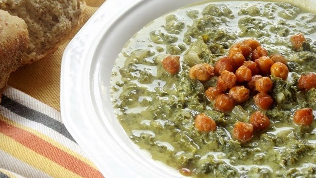 Гъбена супа с нахут и зелена леща