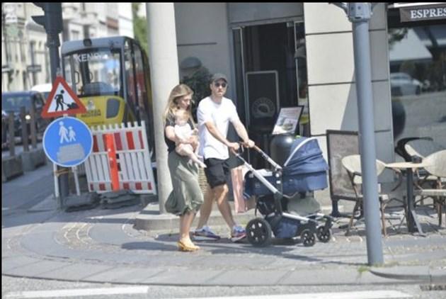Ериксен и семейството му в Копенхаген