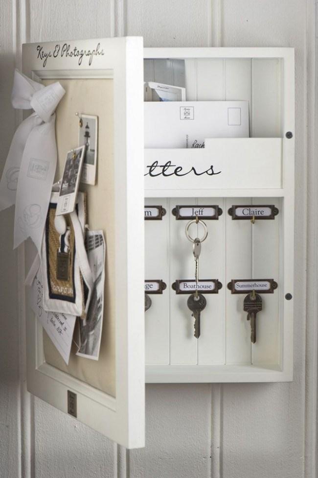 Малко шкафче също върши работа, а вратичката му е още едно поле за изява в декорирането