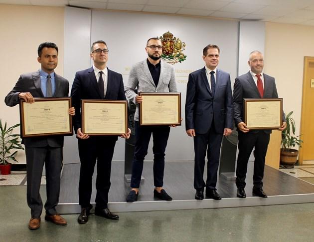 Лъчезар Борисов връчи 4 сертификата за инвестиции за 110 млн. лв.
