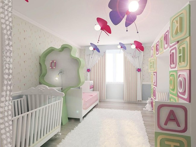Лампите не трябва да са близо до легълцето на бебето.