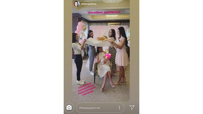 Светлана и Християн Гущерови направиха погача на дъщеря си Анелия-Добромира (Снимки)