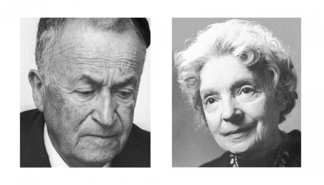 Шмуел Йосеф Агнон (Израел)  и Нели Закс (Швеция)  са нобелисти през 1966 г.