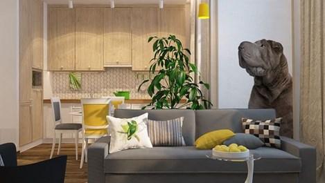 Жълти акценти в малкото жилище (галерия)