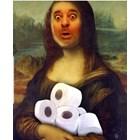 Любо Нейков стана Мона Лиза, гушнала тоалетна хартия