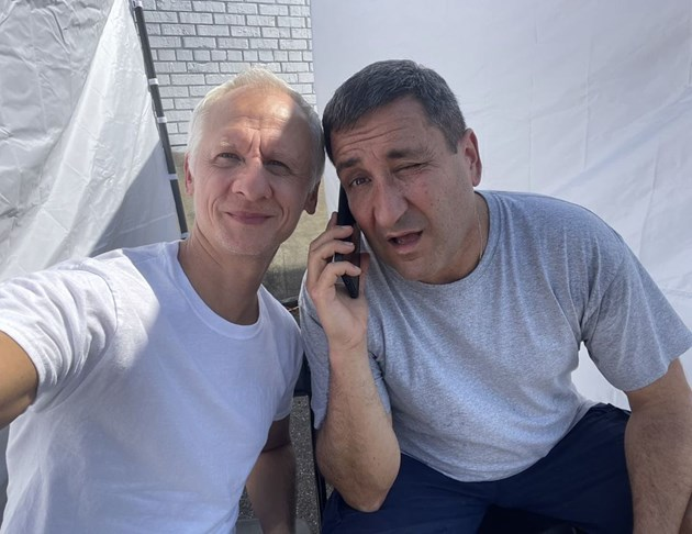 Тончо и Иван на първи снимачен ден
