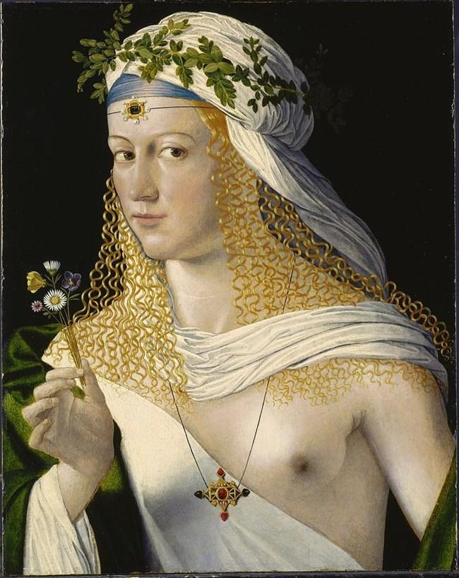 Предполагаем портрет на Лукреция от Бартоломео  Венето