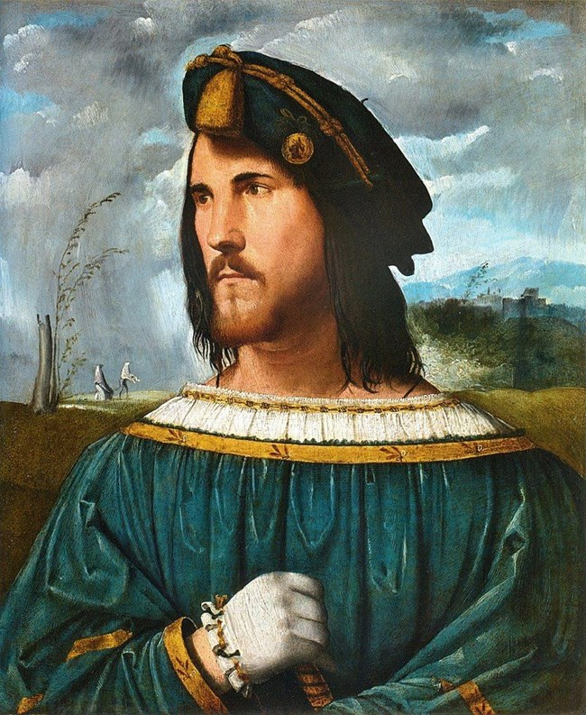Предполагаем портрет на Чезаре Борджия от Алтобело Мелоне