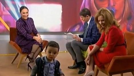 Синът на Мария Илиева с първа изява в ефира
