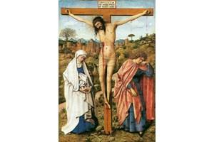 """Картината """"Христос на кръста с Богородица и свети Йоан"""". При разпъването на Спасителя се говори само за майка му, а баща му не се споменава. СНИМКИ: АРХИВ"""