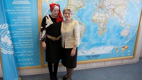 Княгиня Калина с български пафти на събитие в ЮНЕСКО