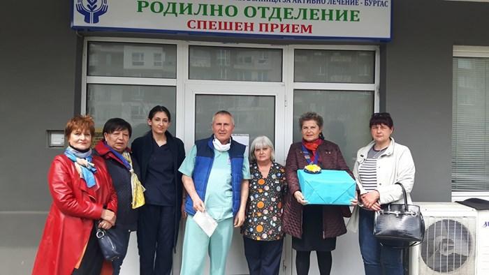 Родилното отделение на УМБАЛ Бургас получи дарение в Световния ден на здравето.