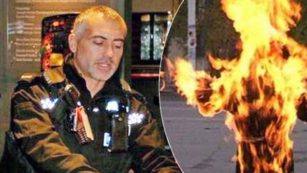 Българин пали жив британски полицай
