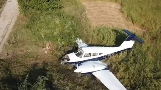 Двама гинат в самолет до Ихтиман