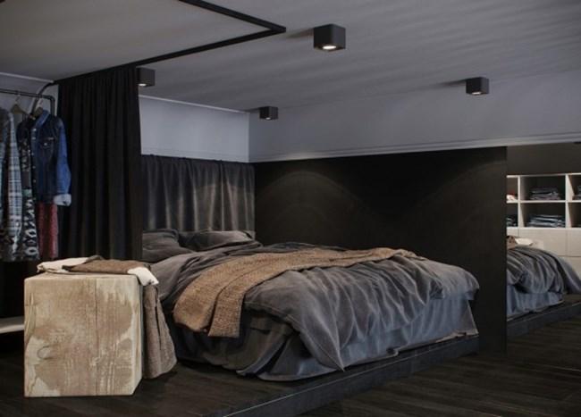 В спалнята горе е намерено пространство и за работно място