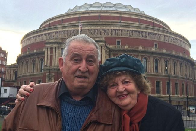 Татяна Лолова със  съпруга си, когото  нарича галено Славето