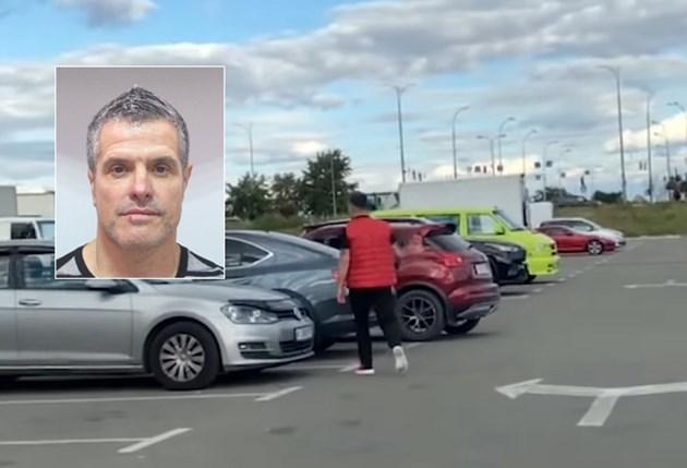 """Евелин Банев се разхожда спокойно на паркинга на мол """"Лавина"""" секунди преди да бъде заловен"""
