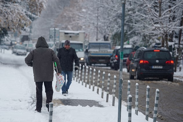 Първи сняг в София (Фоторепортаж)