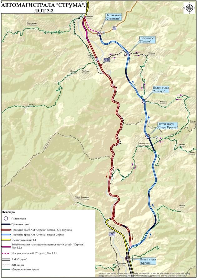"""С европейските пари от """"Струма"""" ще се построи магистрала """"Европа"""" от София до Калотина"""