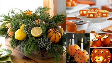 Коледна украса от портокали (галерия)