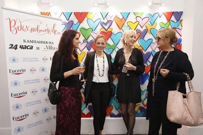 Венелина Гочева, Мила Иванова, Йоанна Темелкова и Теодора Маркова (отдясно наляво)