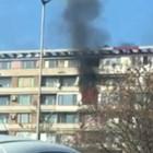 """Голям пожар в  квартал """"Хиподрума"""" (Видео)"""