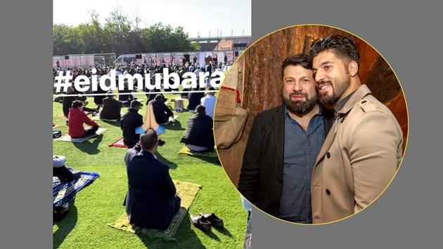 Стораро се молят на стадион за Рамазан байрам