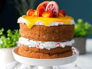 "Торта ""Шифон"" с глазура"
