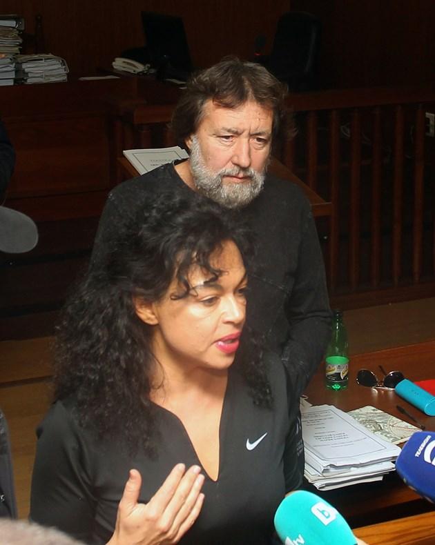 Евгения и Николай Баневи по време на дело в спецсъда