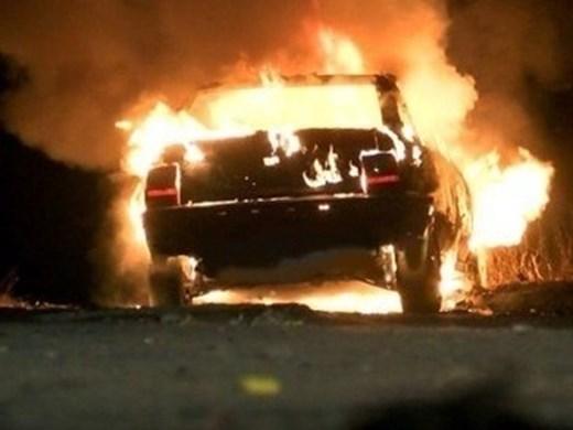 Спряха движението от Созопол до Бургас заради самозапалила се кола
