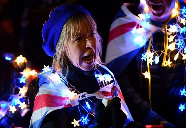Еврофили ликуваха пред британския парламент: Брекзит е мъртъв!