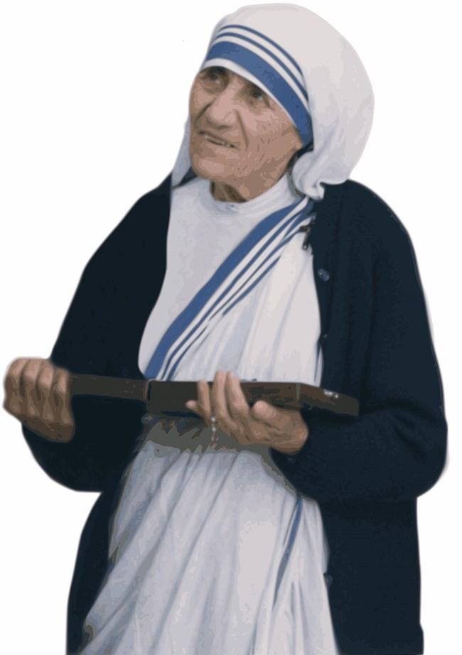 Майка Тереза е съвременен мит и обещание за женското начало в света. Снимка: Pixabay