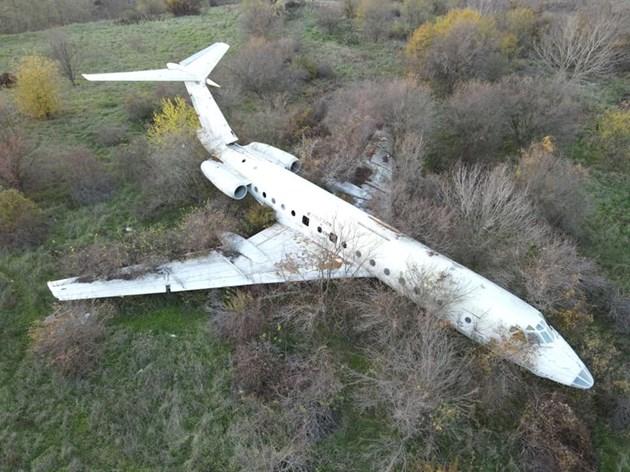 Призрачен самолет в гората до Разград