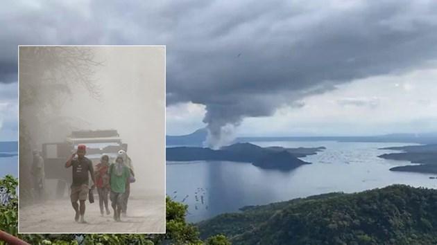 Евакуират на 200 хиляди души заради вулкана Таал във Филипините (Видео и снимки)