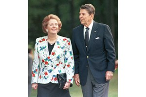 Маргарет Тачър и Роналд Рейгън бяха големи приятели.