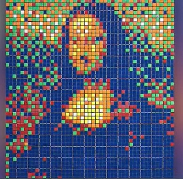 Мона Лиза от кубчета Рубик - продадена на търг за 480 000 евро (Видео)