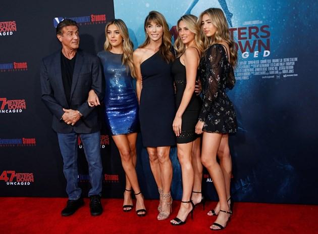 Силвестър Сталоун и Джейми Фокс подкрепиха дебюта на дъщерите си в киното (Снимки)